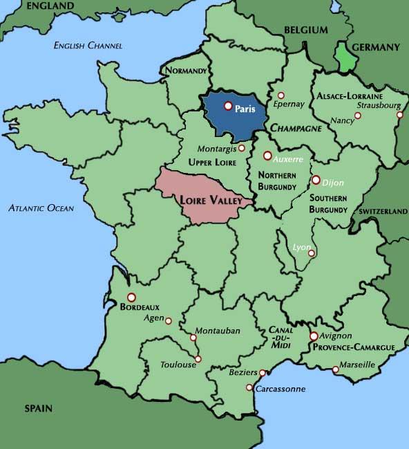 map of france loire region travel