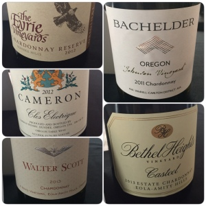 Wines from the Technical Panel.